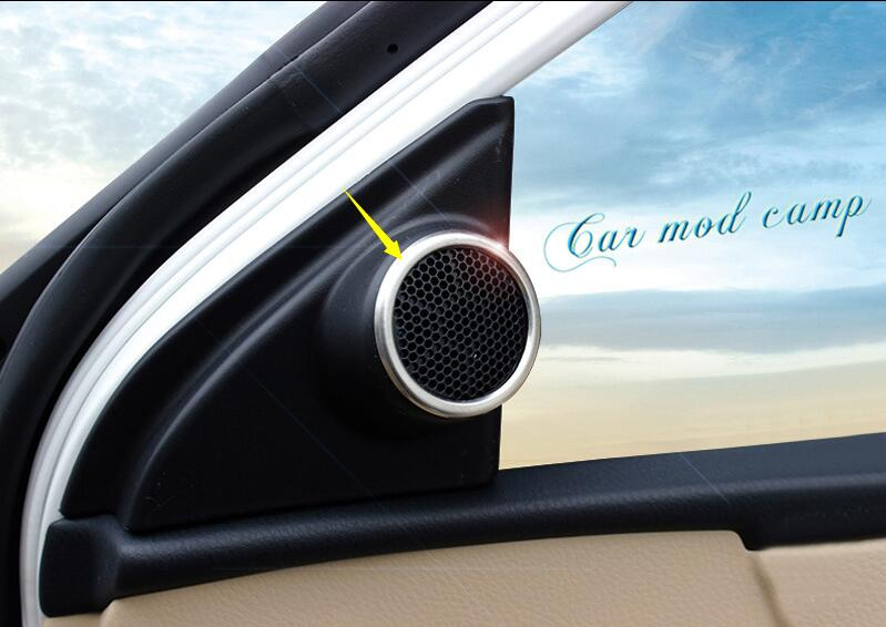 For Toyota Corolla 2014 2015 2016 2017 ABS Matte Interior Door Stereo Speaker Cover Trim 2pcs Car Styling accessories!