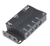 8 channels DMX output DMX Splitter & signal amplifier;AC100V 240V input