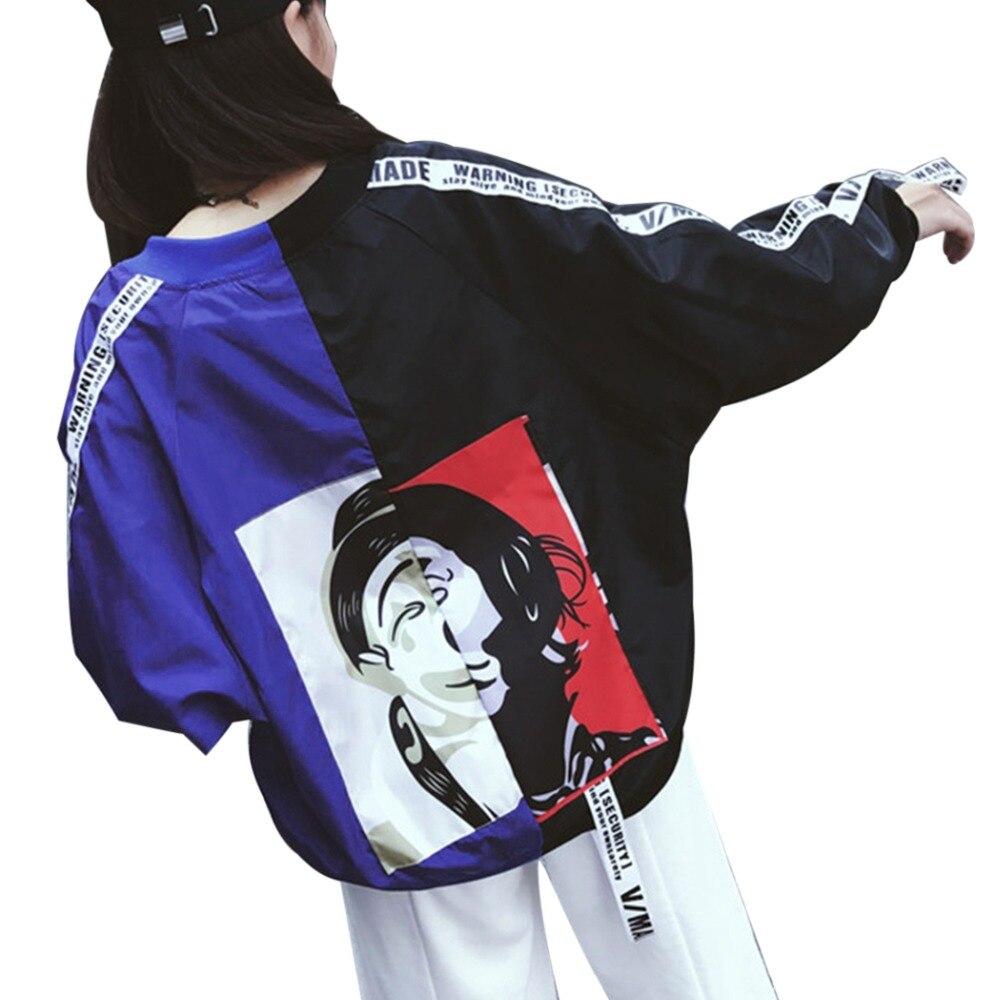 Harajuku Preppy Style Bomber Jacket Women Men Couple Basic Coat