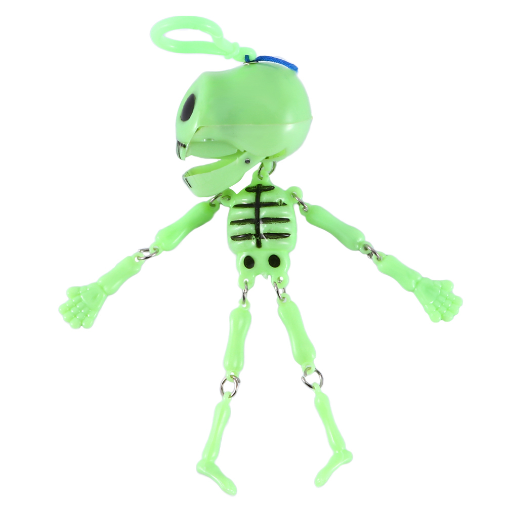 1 Pc Novelty Glow In The Dark Moving Skeleton Key Chain Halloween Favors Party Decor Carnival For Kids   Glow In The Dark Toys