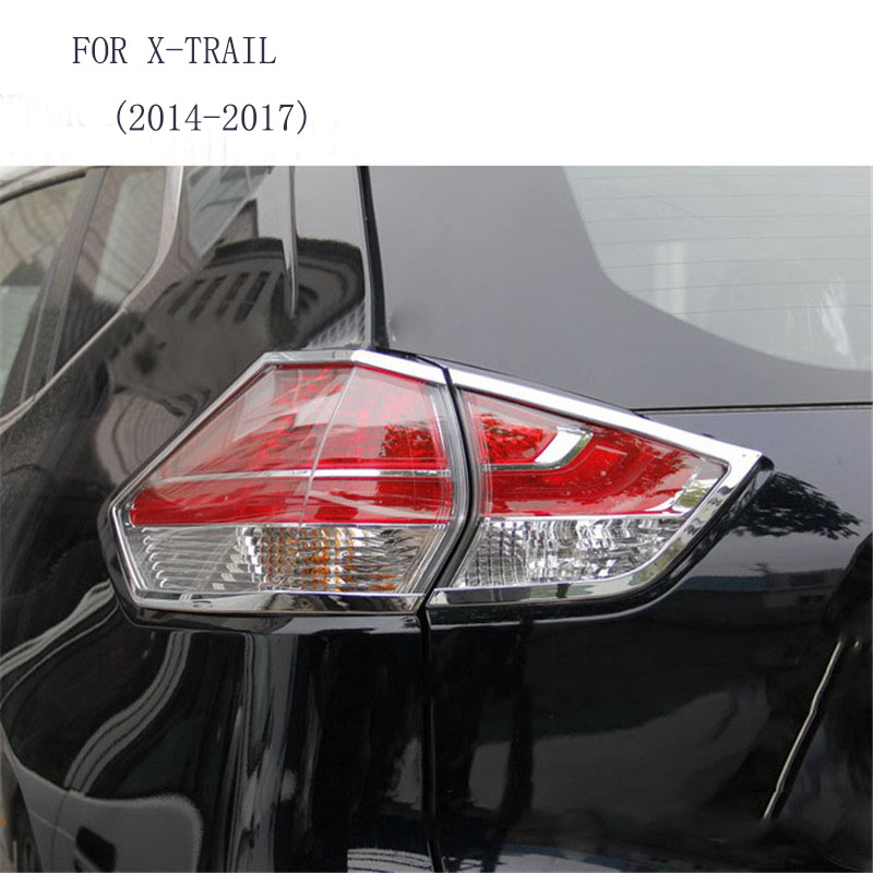 Fit For Nissan X TRAIL 2014 2015 2016 2017 ABS Chrome Car Styling Rear Tail light