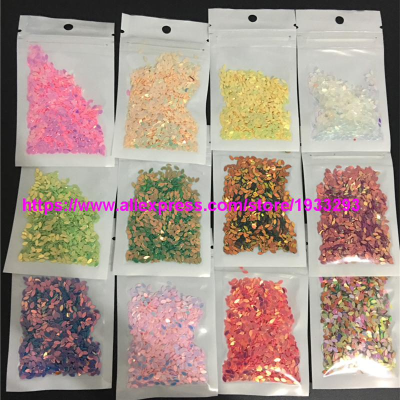 16 colors//set 9mm Flat Flower Loose Sequins Nail Art Shoes Bag Sequin DIY Weddin