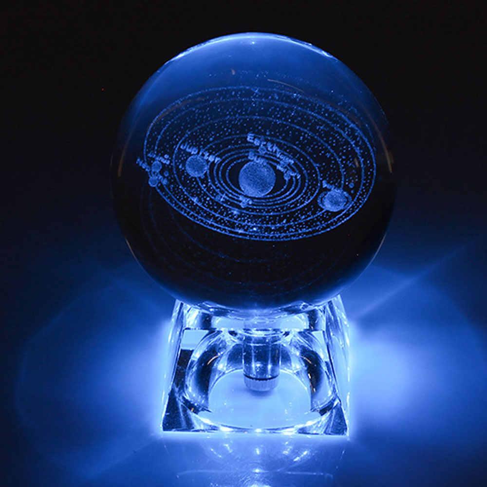 6 Cm 3D Khắc Galaxy Hệ Mặt Trời Đèn Pha Lê Ánh Sáng Ban Đêm Dạ Quang Thủ Công Kính Quả Cầu Tròn Văn Phòng Nhà Trang Trí Bàn Làm Việc đèn