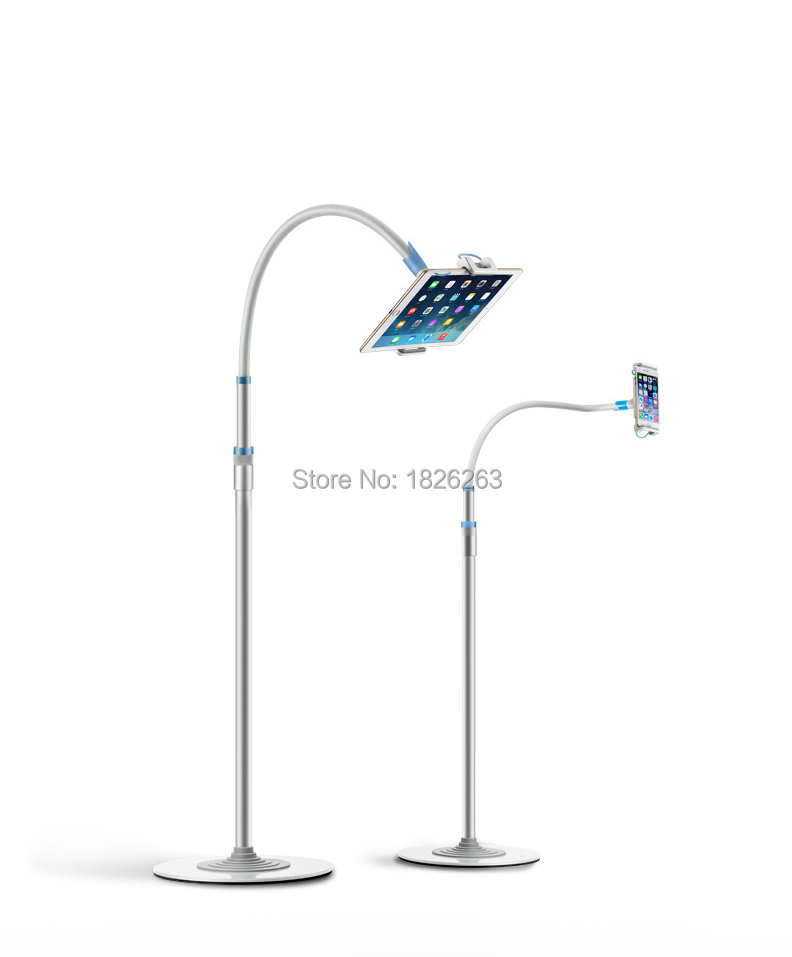 Multifunctional Aluminum+Copper Hose Gooseneck 4 12.9 inch Tablet PC and Mobile Phone Floor Stand with Ultra thin Base-in Tablet Stands from Computer & Office    1