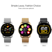GOLDENSPIKE F1 Fashion Sport Smart Watches MTK2502C 1.22 inch IPS Screen Smartwatch with heart rate monitor sliver/gold/black