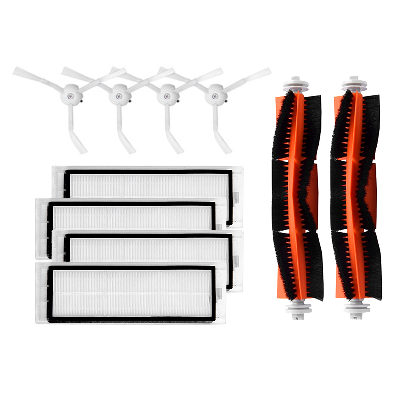 4 piezas filtro unids hepa aspiradora lateral cepillo principal limpieza de alta eficiencia adecuado para Xiaomi Mi Robot piezas accesorios