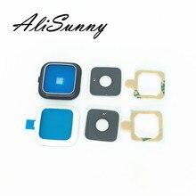 AliSunny 10pcs Back Camera Lens Frame + Glass + 3M Sticker Cover Holder for SamSung Note