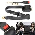Universal Adjustable Auto Vehicle Van Car Seat Belt Bolt Extension Car Seat Belt Buckle Extender Strap Safety Buckle Black