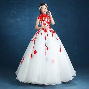 Image 4 - 980es De Quinceaneras 2021 nouveau col haut sans manches longues robes De Quinceanera fleur grande taille fermeture éclair sur mesure robe De bal L