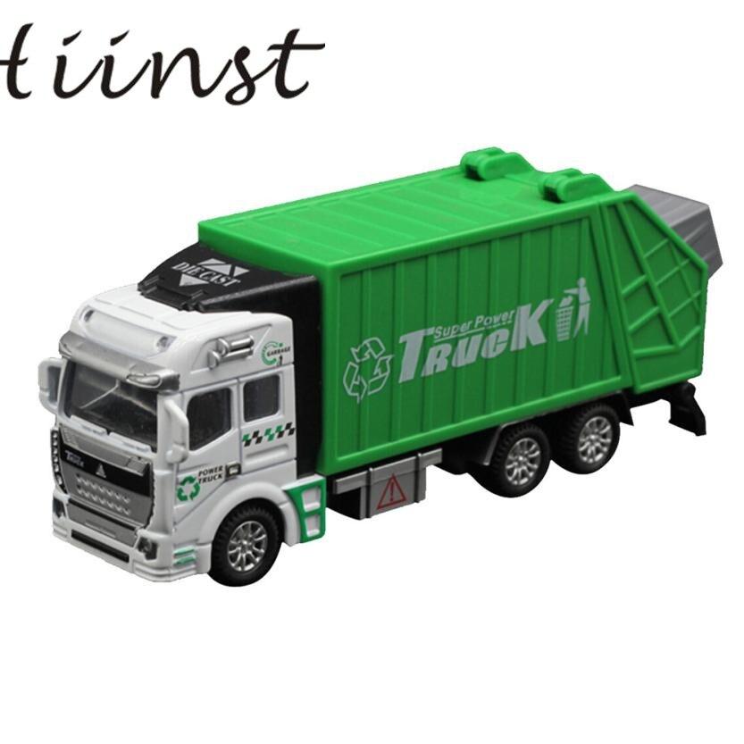 Baby Spielzeug 1:32 Racing Fahrrad Shop Lkw Spielzeugauto Träger Fahrzeug Müllwagen Neue Bildung Entwicklungs 17Aug30