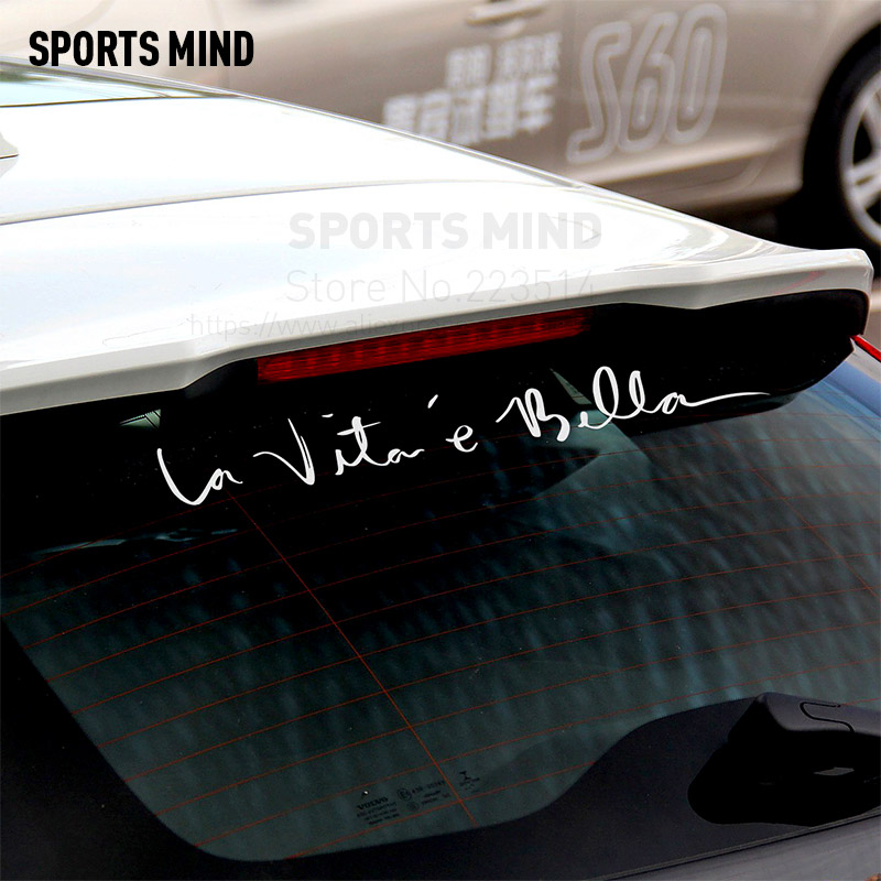 2 Pieces Sports Mind Car-Styling Life is beautiful Car Sticker For Ford Fiat Renault Citroen PEUGEOT MITSUBISHI car accessories