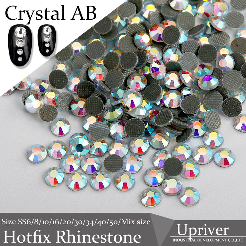 Crafts Made Shiny Glass Heat Transfer SS20 Blue Light Crystal AB Hotfix Rhinestones 1440pcs