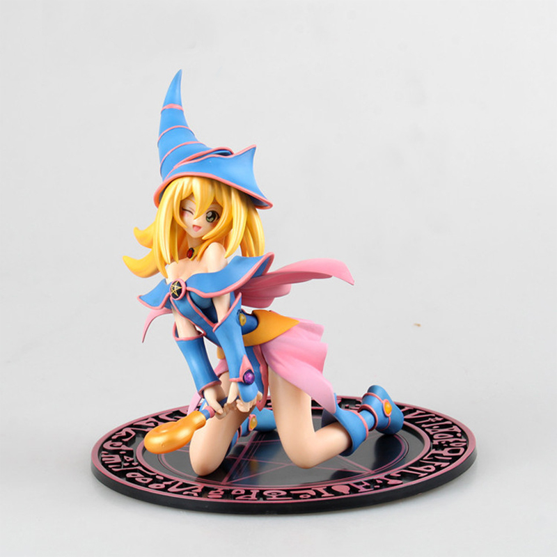 ZXZ 20cm Figurine Japanese Anime Yu-Gi-Oh! Dark Magician Girl Action Figure PVC Collection Figures Toys Gift Decoration Doll cute pet rare color sausage short hair dog action figure girl s collection classic anime christmas gift lps doll kids toys