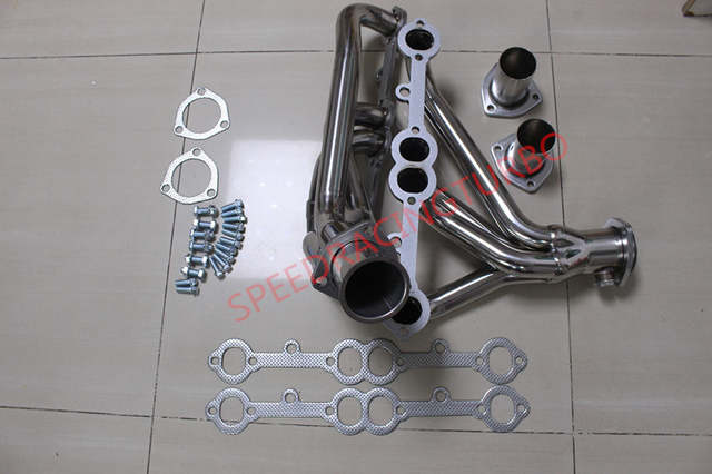 STAINLESS STEEL SS EXHAUST HEADER FOR FIT CHEVY 305 350 FIT