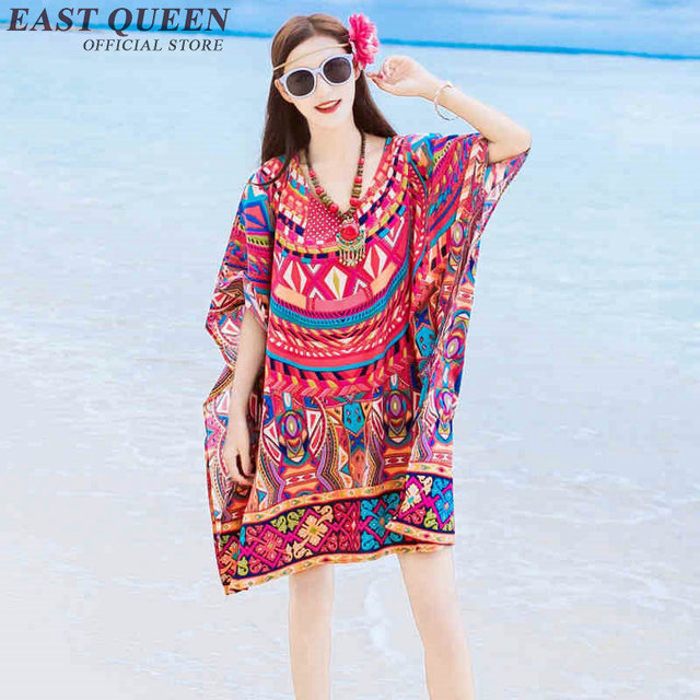 boho shirt   boho kimono  mexican embroidered blouse  beach coverup  Boho chic dress  Boho style sundress    AA2278 YX