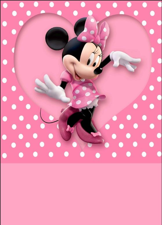 5x7ft minnie pink polka dots heart love custom photo