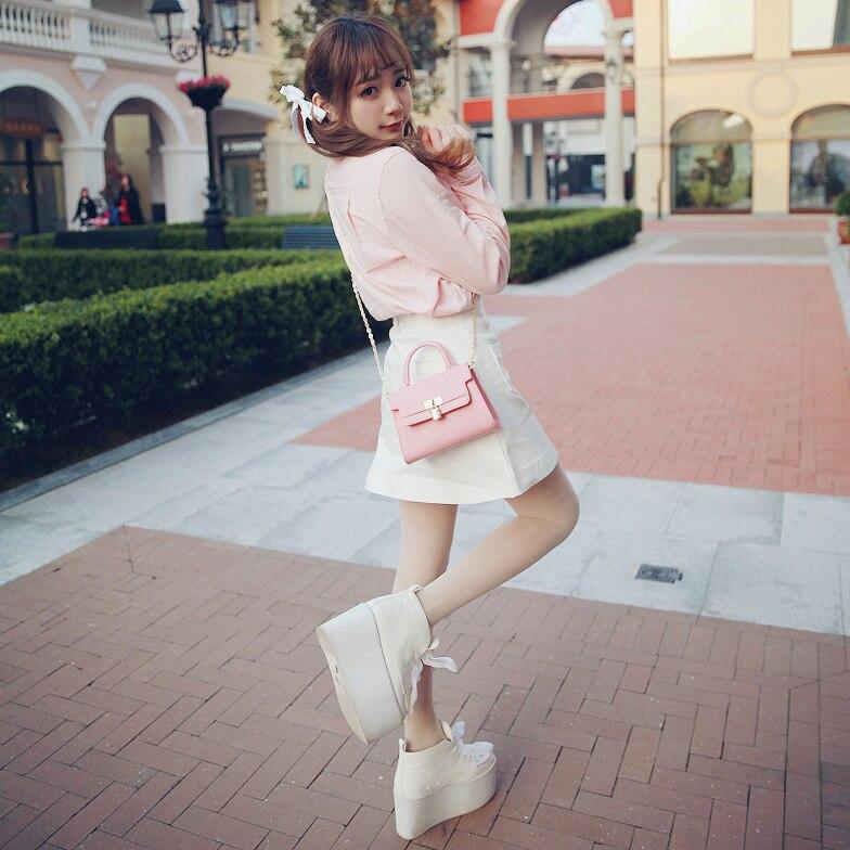 Princess sweet lolita skirt Bobon21 exclusive design good match candy color love buckle cowboy skirt A