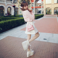 Princess sweet lolita skirt  Bobon21 exclusive design good match candy color love buckle cowboy skirt A word skirt B1345
