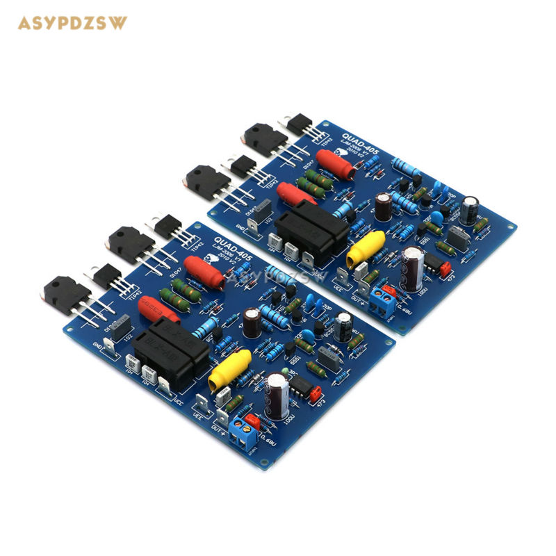цена на 2PCS Assembled QUAD405 Power amplifier finished board with KTD1047 (2 channel)