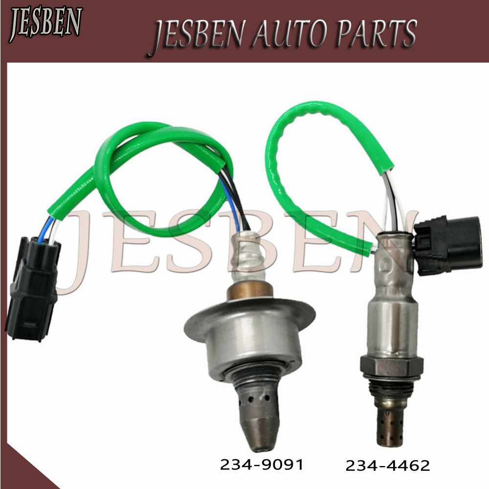 2PCS LOT Fits For Acura TSX Honda Accord 2 4L 2008 2014 Front Rear Oxygen Sensor