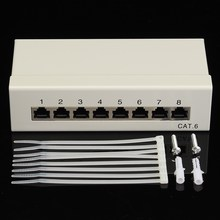 Cat6 8 port RJ45 Patch Panel UTP Ethernet LAN Network Adapter Rack Cable With Distribution Frame