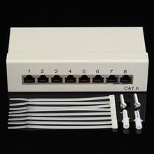 8-портовый Cat6 RJ45 Патч-Панель UTP Ethernet LAN Сети Адаптер Стойки Кабель С Кросс Разъем Стойку Инструмента