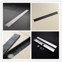 600*83mm Black/Brushed 2 colors bathroom toilet floor drain,Stainless steel two sides shower drainer,23.62 Inch