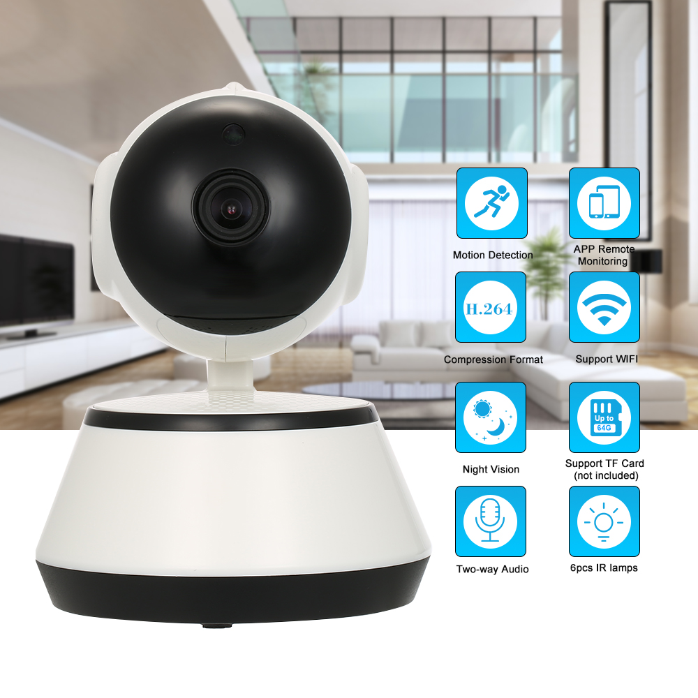 HD 720P IP Cloud Camera CCTV Surveillance Security Network PTZ Camera for Android/iOS APP Infrared Night View Motion DetectionHD 720P IP Cloud Camera CCTV Surveillance Security Network PTZ Camera for Android/iOS APP Infrared Night View Motion Detection