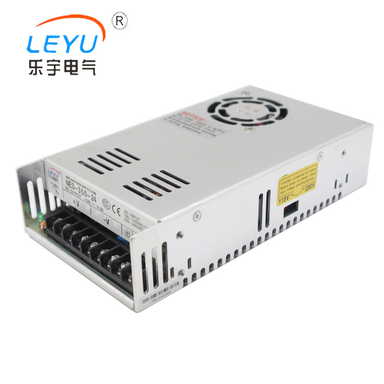 China switching power supply 350w high quality NES-350-24 by single output meanwell 12v 350w ul certificated nes series switching power supply 85 264v ac to 12v dc