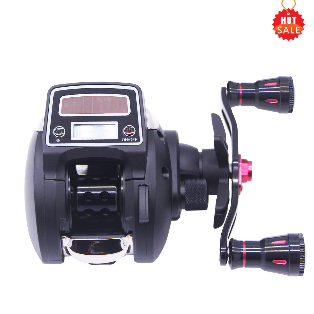 Hu Ying Competitive Price Fast Delivery Water Reel GR 6.3:1 Left/Right Hand Bait Casting Fishing Reel With Digital Display abu garcia revo3 sx hs hs l 10bb 7 1 1 bait casting reel super smooth low profile water drop wheel left right hand max drag 9kg