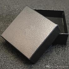 100pcs/lot 7*7*3CM Black Square Necklace Case Ladies Bracelet Earring Jewelry Box HJ102