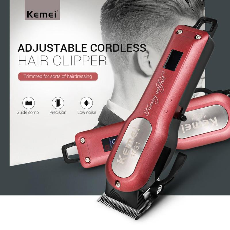 Kemei Cordless Hair Clipper Cutting Razor Barber Hair Beard Trimmer Powerful Hair Shaving Machine with 4 Guide Comb with love hair 6a 13 4 withlove20150201