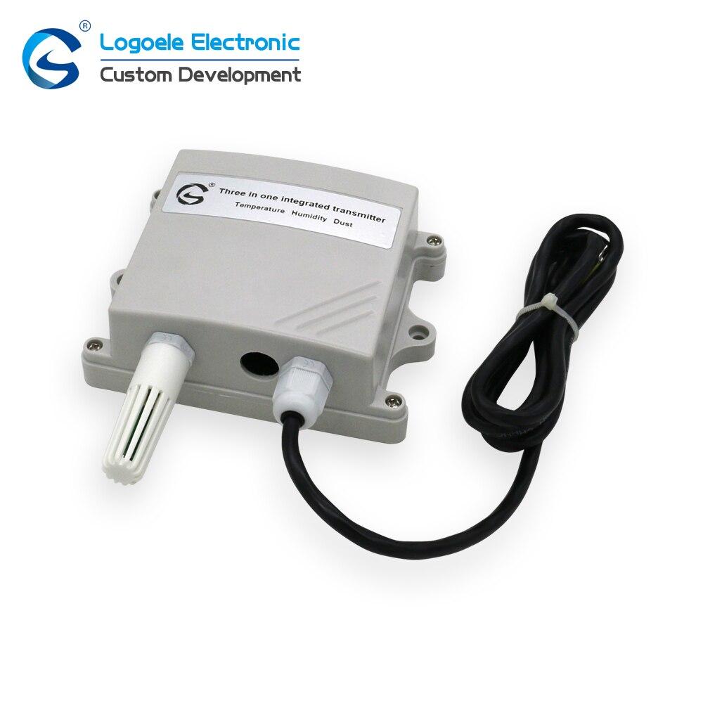 Controle de Saída do Transmissor Qualidade da Poeira do Laser da Temperatura e da Umidade do Sensor Rs485 de Alta Três-em-um
