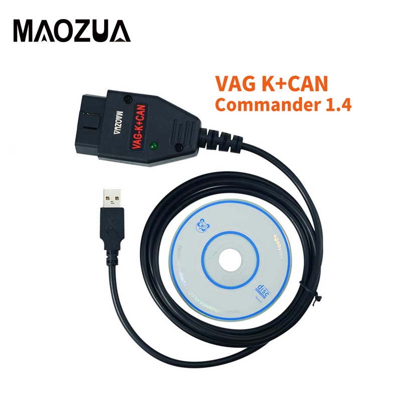 VAG K puede comandante 1,4 con FTDI OBD2 de diagnóstico Cable de interfaz para VW/AUDI/SKODA/asiento