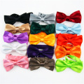 Fashion Adjustable Bowtie Shinny Solid Colour Wedding Party Rayon Butterfly Cravat Candy Colour Silk Noble Tie - Factory Outlet