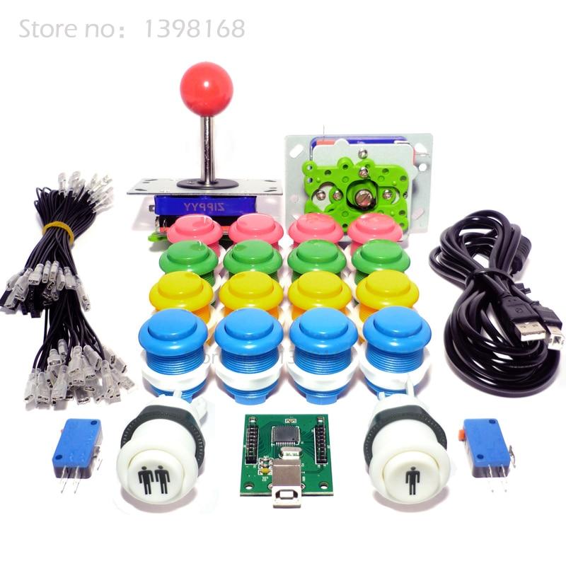 2 Player Arcade Control Kit - 2 Ball Top Joysticks, 18 Buttons and Keyboard Encoder - MAME / JAMMA