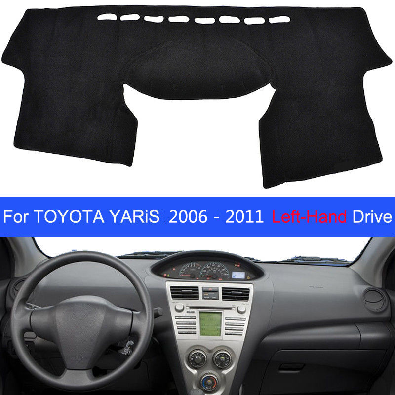 Car Dashboard Cover Mat Pad Dashmat Sun Shade Instrument Carpet For Toyota Yaris XP90 2006 2007 2008 2009 2010 2011 Accessories|Interior Mouldings| |  - title=