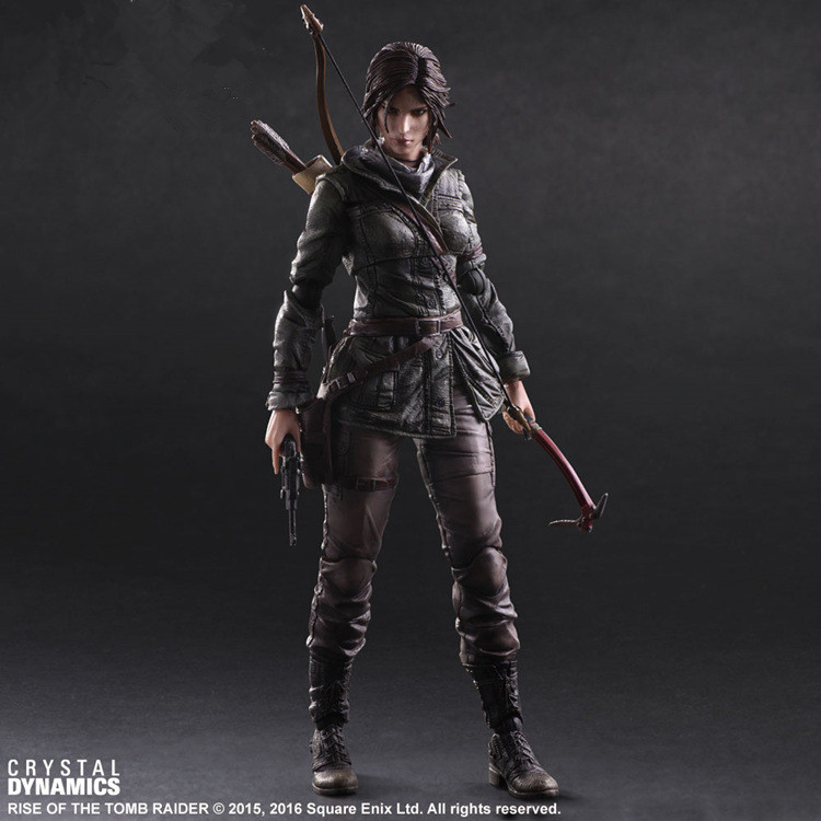 The Tomb Raider Action Figure Lara Croft Play Arts Kai Toys 270mm Anime Movie Toys Rise of The Tomb Raider Playarts Lara game 26 cm rise of the tomb raider lara croft variant painted figure variant lara croft pvc action figure collectible model toy