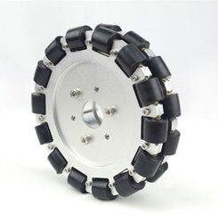 Dual Aluminum Omnidirectional Wheel 6 inch 152mm Robot Competition Wheel Robocon Robocup-14085