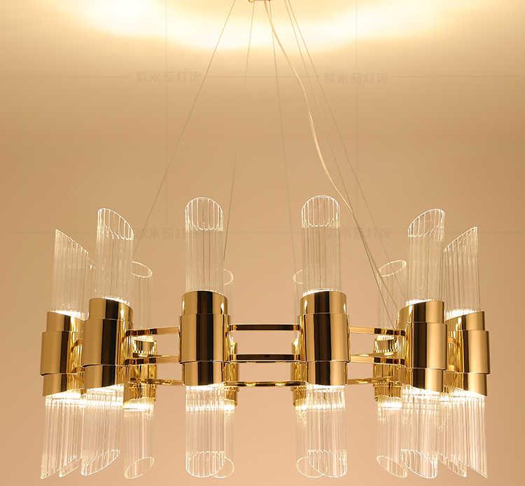 الحديثة الحد الأدنى ضوء غرفة المعيشة الفاخرة الثريا مطعم بار الشرفة دراسة فندق الثريا مشروع نموذج غرفة مصابيح