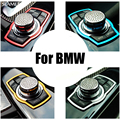 Botón Multimedia del coche Pegatinas de Decoración Para BMW BMW X3 X1 X5 X6 E83 E70 E90 E91 F15 F16 F10 F30 F20 F21 Accesorios De Estilo