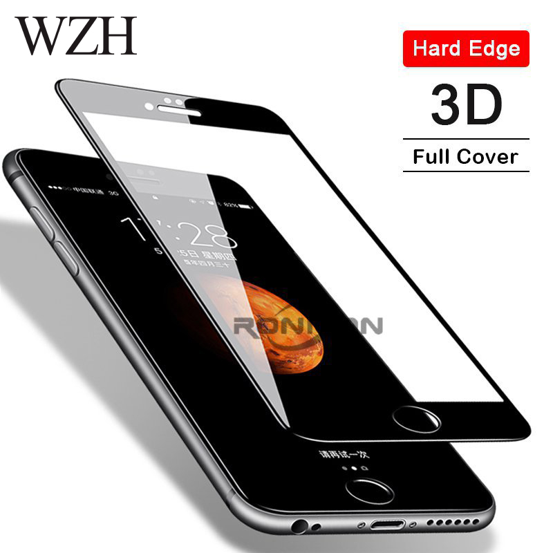 WZH 3D 9H Tempered Glass for iphone 8 7 6 6s Plus 5 5s SE Screen Protector for iphone 6 7 8 6s X XS XS MAX XR glass screen film image