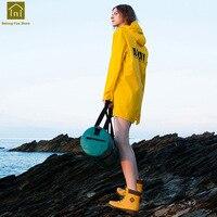 С капюшоном Дождевик пончо для взрослых Водонепроницаемый женский велосипед Желтый дождевик для мужчин женщин Кемпинг Chaqueta Mujer мода дождь