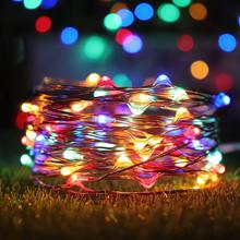 DCOO 50/100/200LED  Battery Operated Starry Fairy Lights Waterproof Christmas Decor with Remote Control for Xmas Tree