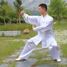 110-180cm chino tradicional Tai Chi Kung Fu uniformes niños adultos de rendimiento trajes de baile mañana ejercicio traje de Wushu