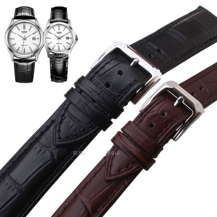 Watchbands Genuine Leather WatchBand Stainless Steel Buckle Clasp watch band leather strap 18/20/22 mm for Tissot Armani watch