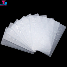 10Pcs Lot Nail Art Stamping Plates Set Stamper Scraper Nail Art Polish Stamp Plastic DIY Nail
