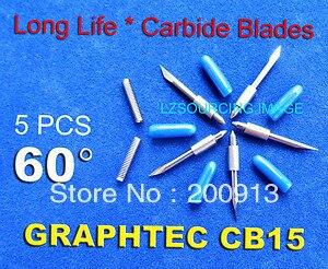 5 x 60 degree 1 5mm Graphtec Vinyl Cutter Plotter Blades 60 Degree CB15U CB15 Blade 5pcs one lot