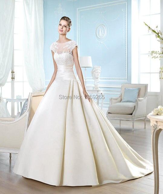 High Neck 2015 Princess Style Wedding Dress Lace Vestido De Novia ...