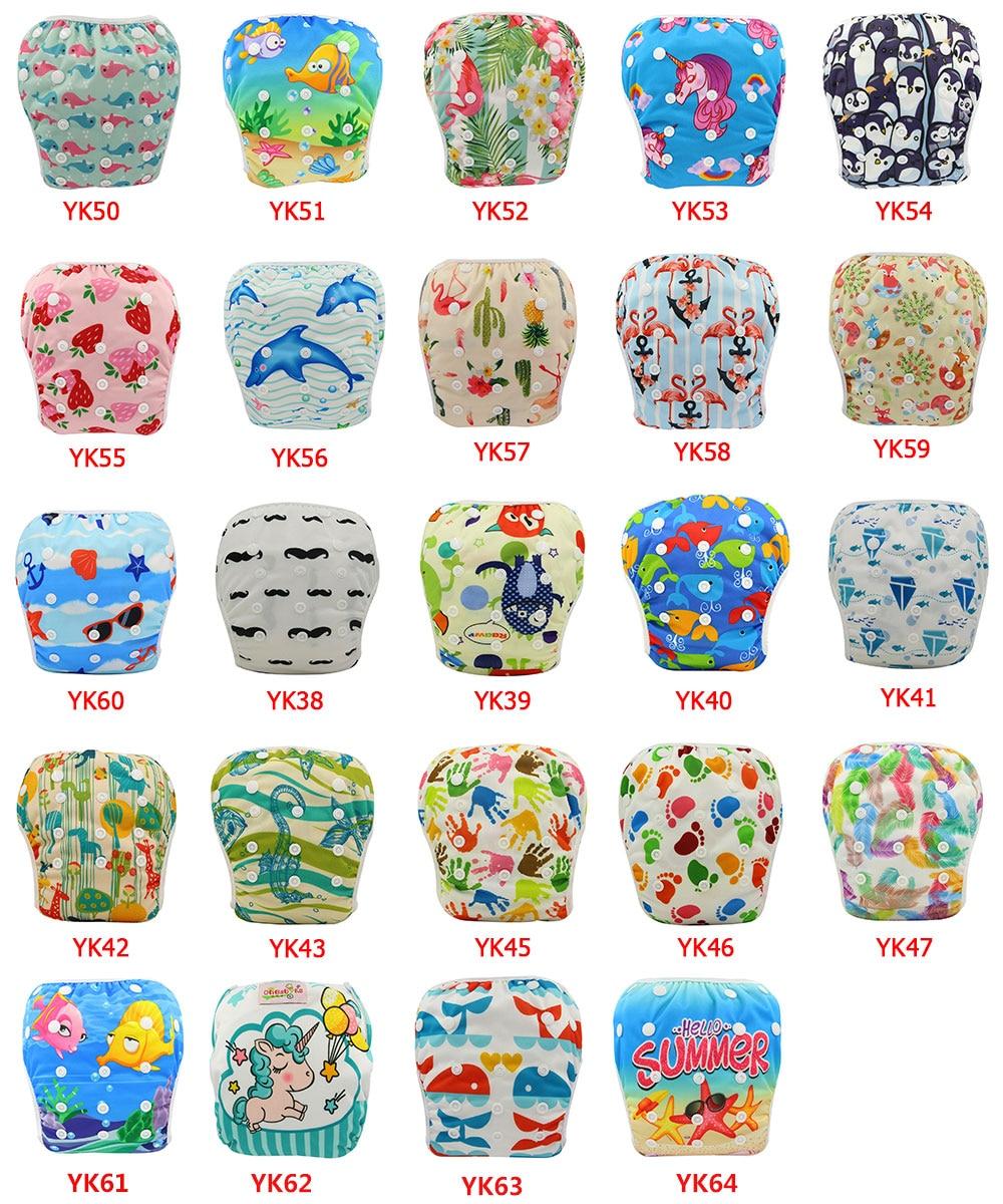 Ohbabyka 50pcs/lots Reusable Baby Swim Diaper Size Adjusted Pool Pant Unisex Boys Girls Swimming Diaper for Kids Summer Swimwear